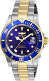 Invicta Men's 26972 Pro Diver Quartz 3 Hand Blue Dial Watch