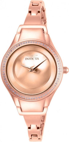 Invicta Women's 26767 Angel Quartz 2 Hand Rose Gold Dial Watch