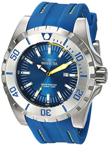 Invicta Men's 23733 Pro Diver Quartz 3 Hand Navy Blue Dial Watch