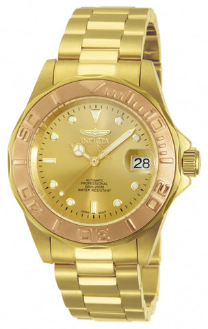 Invicta Men's 13930 Pro Diver Automatic 3 Hand Gold Dial Watch