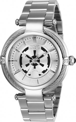 Invicta Women's 26122 Star Wars Quartz 3 Hand Silver Dial Watch