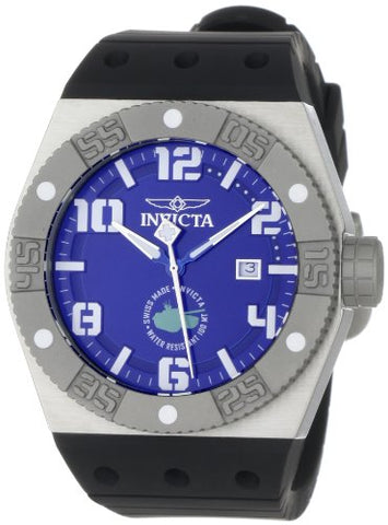 Invicta Men's 0872 Force Collection Blue Dial Black Polyurethane Watch