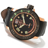 Invicta 1737 Men's Sea Hunter Swiss Quartz Stainless Steel Leather Watch