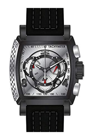 Invicta Men's 27942 S1 Rally Quartz Multifunction Silver, Black Dial Watch
