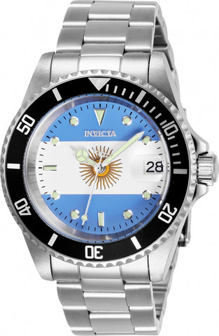 Invicta Men's 28700 Pro Diver Automatic 3 Hand Light Blue, White Dial Watch