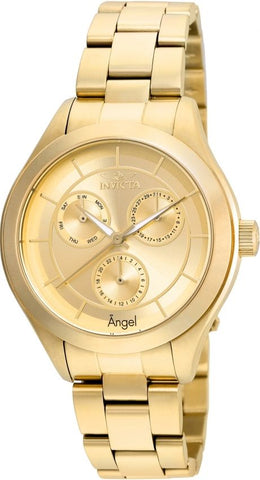 Invicta Women's 21694 Angel Quartz Chronograph Gold Dial Watch