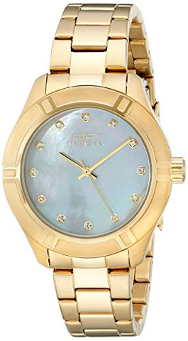 Invicta Women's 18324 Pro Diver Quartz 3 Hand White Dial Watch