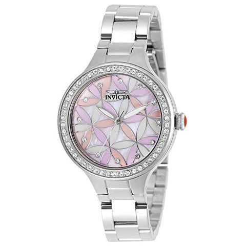 Invicta Women's 28823 Wildflower Quartz 3 Hand White Dial Watch