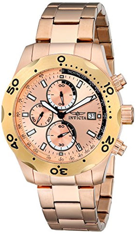 Invicta Men's 17755 Specialty Quartz Multifunction Rose Gold Dial Watch
