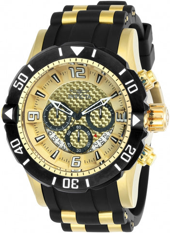 Invicta Men's 23705 Pro Diver Quartz Chronograph Gold Dial Watch