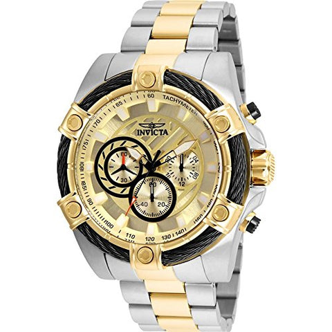 Invicta Men's 25518 Bolt Quartz Chronograph Gold Dial Watch
