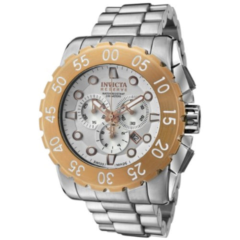 Invicta 1958 Men's Reserve Chronograph Silver Dial Stainless Steel Watch