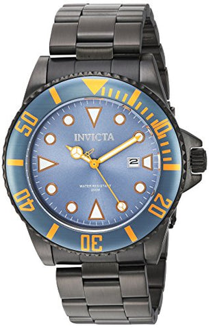 Invicta Men's 90299 Pro Diver Quartz 3 Hand Greyish Blue Dial Watch