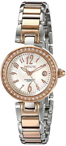 Invicta Women's 13613 Angel Quartz 3 Hand White Dial Watch