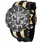 Invicta 13917 Mens Venom Chrono Black Carbon Fiber Dial Black Polyurethane Watch