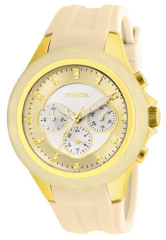 Invicta Women's 22674 Angel Quartz Chronograph Silver, Gold Dial Watch