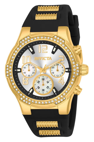 Invicta Women's 24198 BLU Quartz Chronograph Silver Dial Watch
