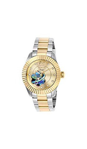 Invicta Women's 27442 Angel Quartz 3 Hand Gold, Rainbow Dial Watch