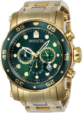 Invicta Men's 23653 Pro Diver Quartz Chronograph Green Dial Watch