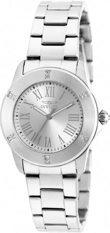 Invicta Women's 19255 Angel Quartz 3 Hand Silver Dial Watch