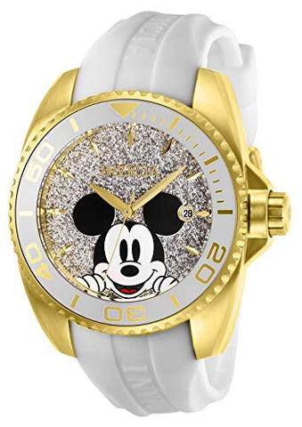 Invicta Women's 27379 Disney  Quartz 3 Hand Silver Dial Watch