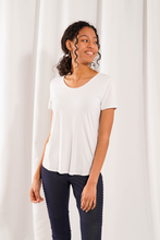 Load image into Gallery viewer, Bamboo U Neck Tee - Available in 4 Colours