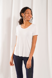 Bamboo U Neck Tee - Available in 4 Colours