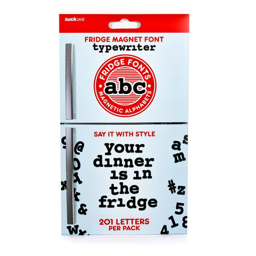 ABC Fridge Magnet Font - Typewriter