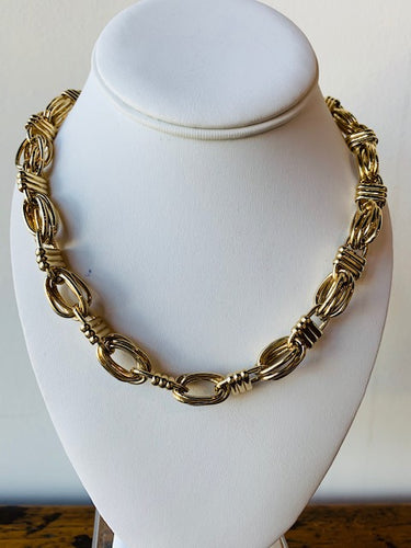 Vintage Gold Tone Givenchy Chain Necklace
