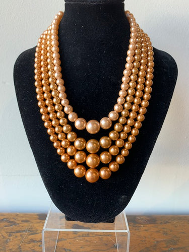Vintage 1960s Glass Beaded Necklace