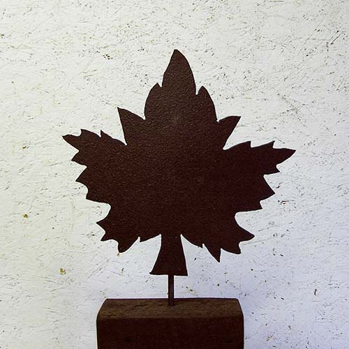 Hand-cut Jagged Maple on Stand