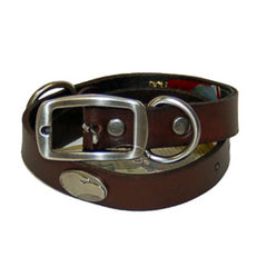 Georgia Southern Brown Leather Concho Dog Collar