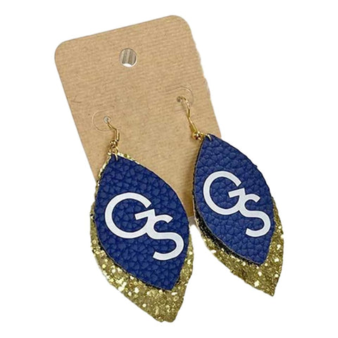 GS Earrings Navy