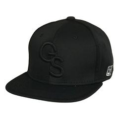 The Game Black Fitted Baseball Cap with Black GS Logo