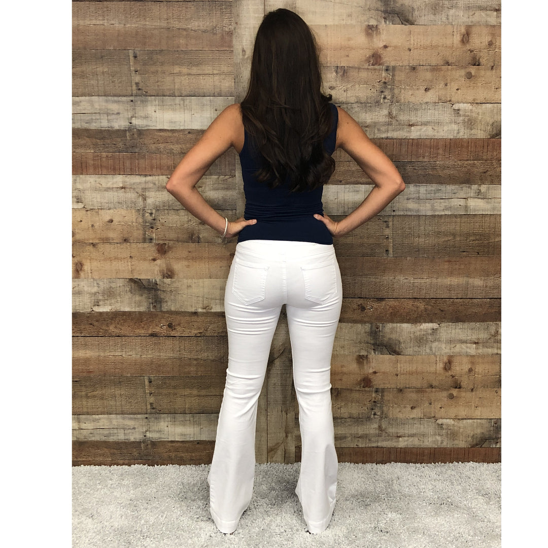 Cello Flare Jegging White Wash