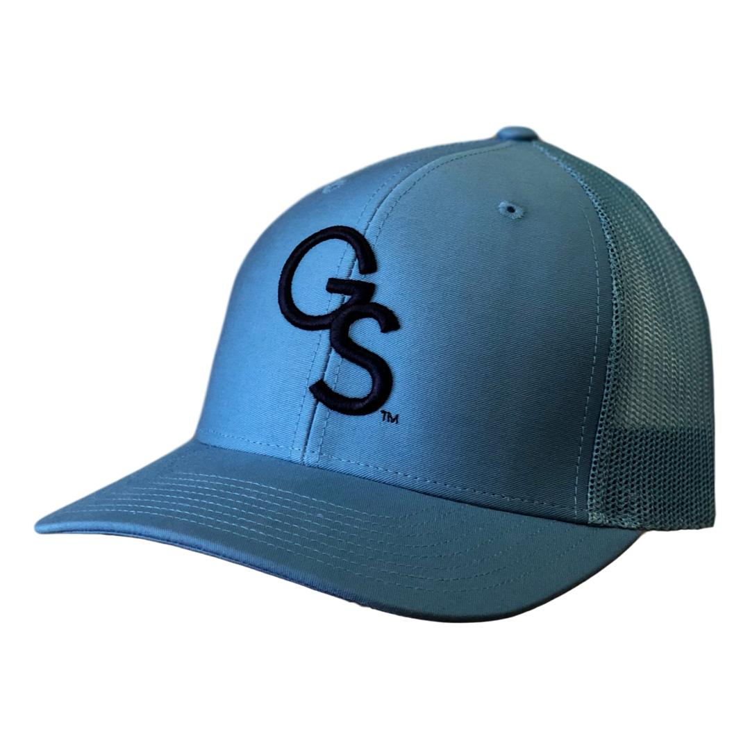 GS Trucker Hat Columbia with Navy