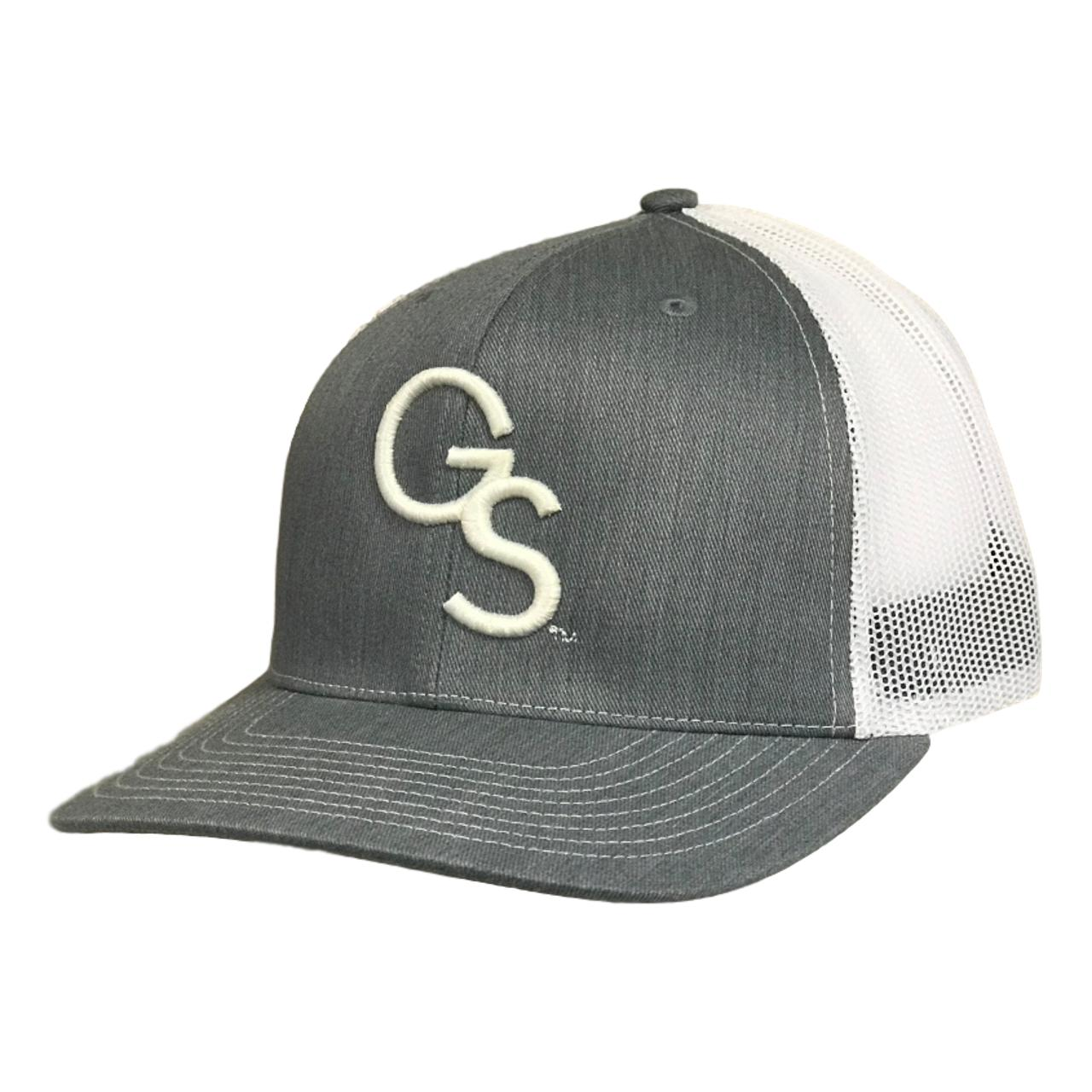 Heather Grey Trucker Hat with White GS