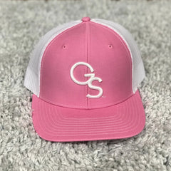 Pink Trucker Hat with White GS