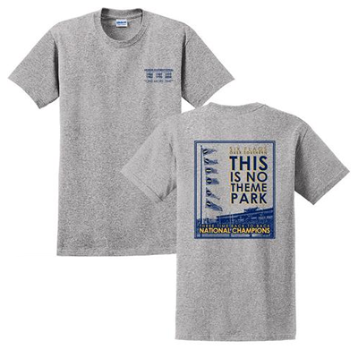 6 Flags Over Southern | Hail Southern T- Shirts | Gray | TrueGSU.com