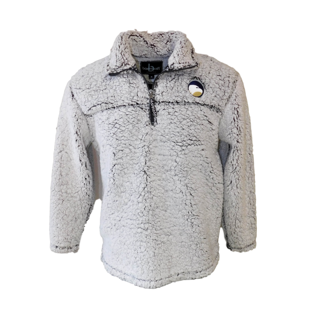 Sherpa Jacket Smoke Grey with Academic logo embroidered