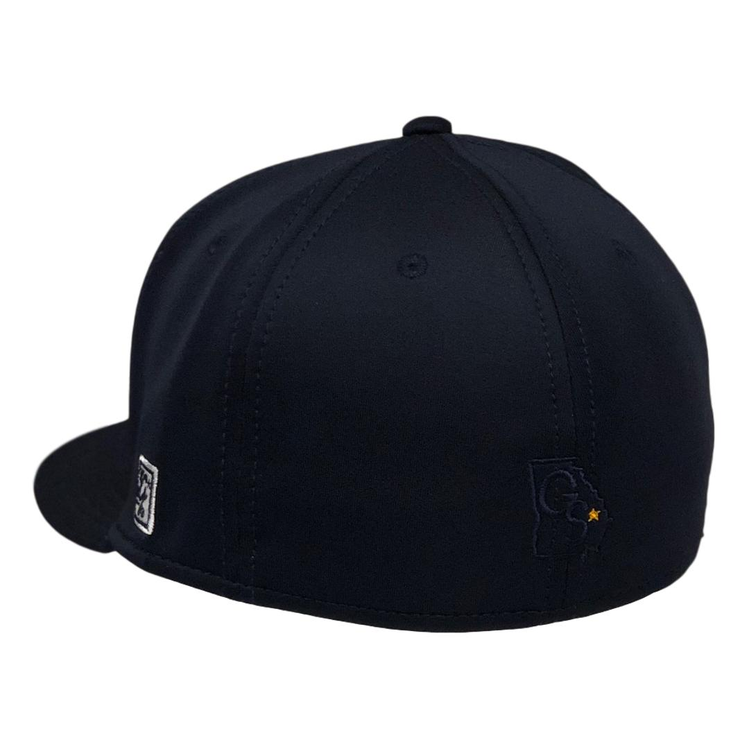 The Game Navy Fitted Baseball Cap with Navy GS Logo