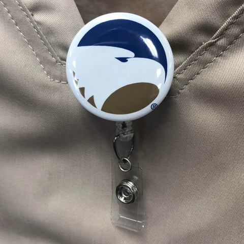 Georgia Southern Statesboro Badge Reel and Button