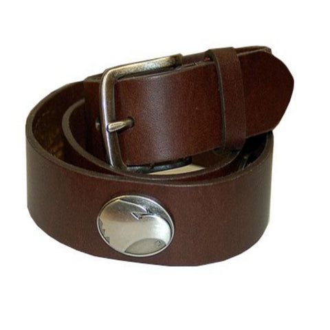 Zep-Pro Brown Leather Concho Belt w/Eagle Head