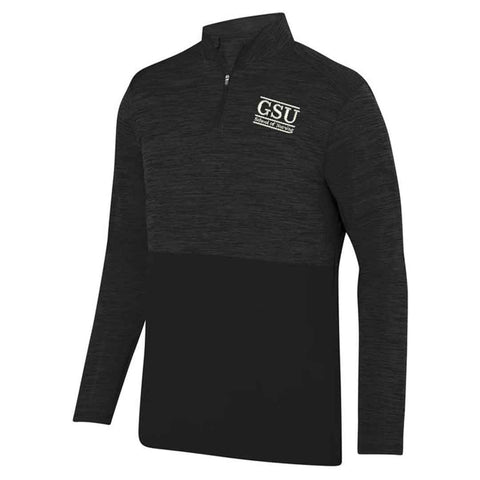 Georgia Southern Nursing Black Shadow Heather 1/4 Zip Pullover