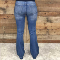 Cello Flare Jegging Medium Washed