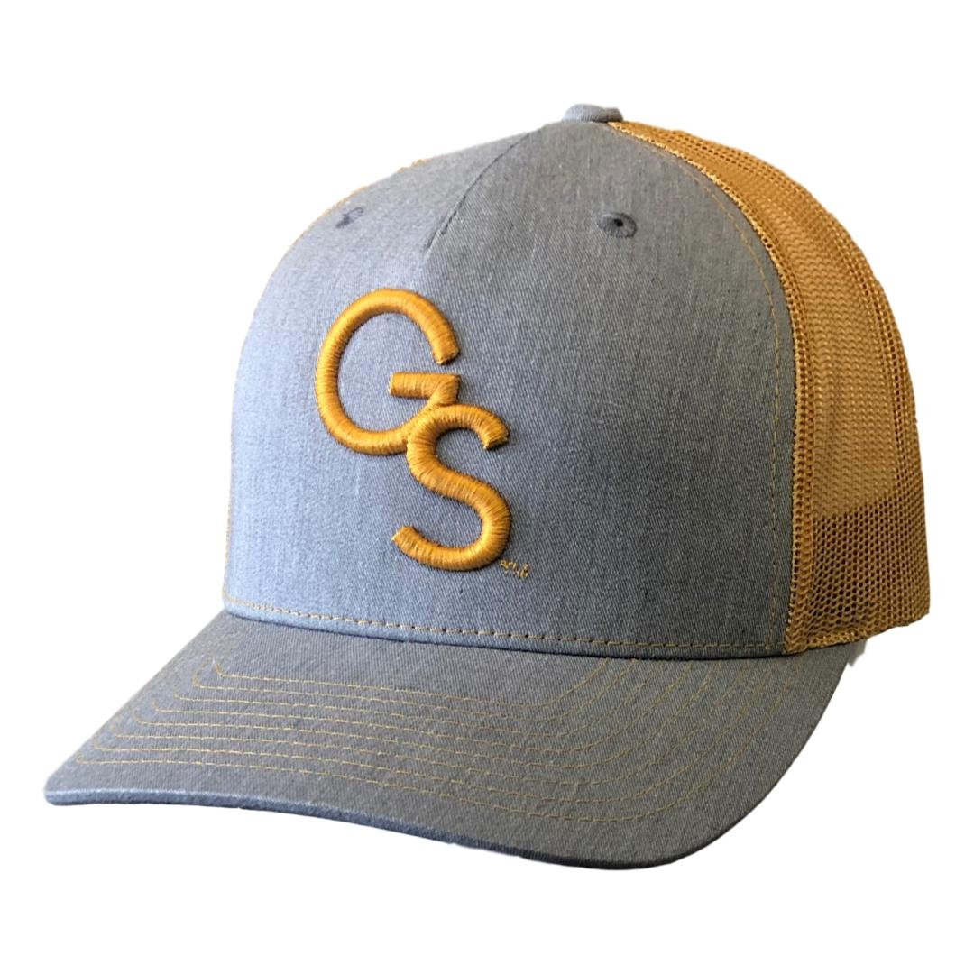 GS Trucker Hat Gold on Heather