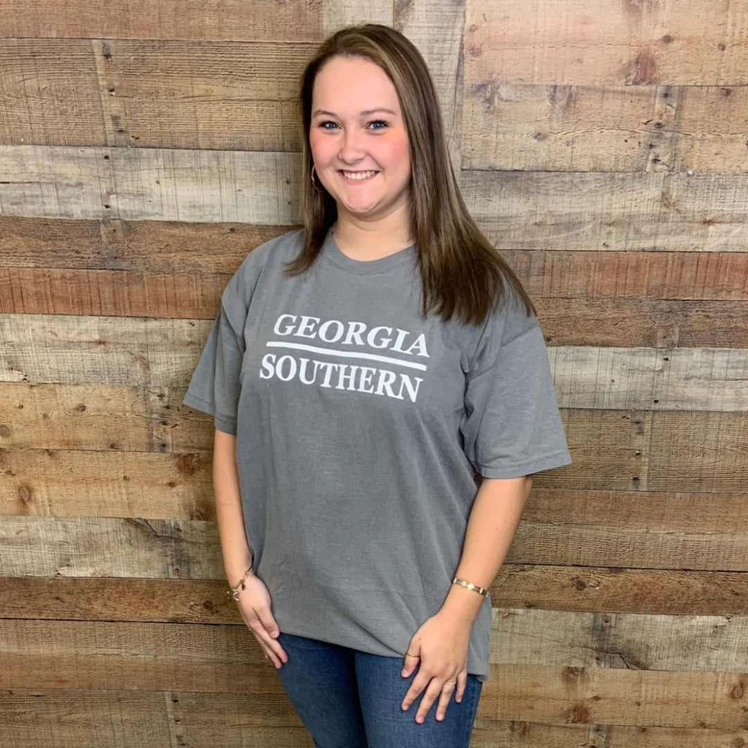 Georgia Southern Comfort Color Stacked Design Grey