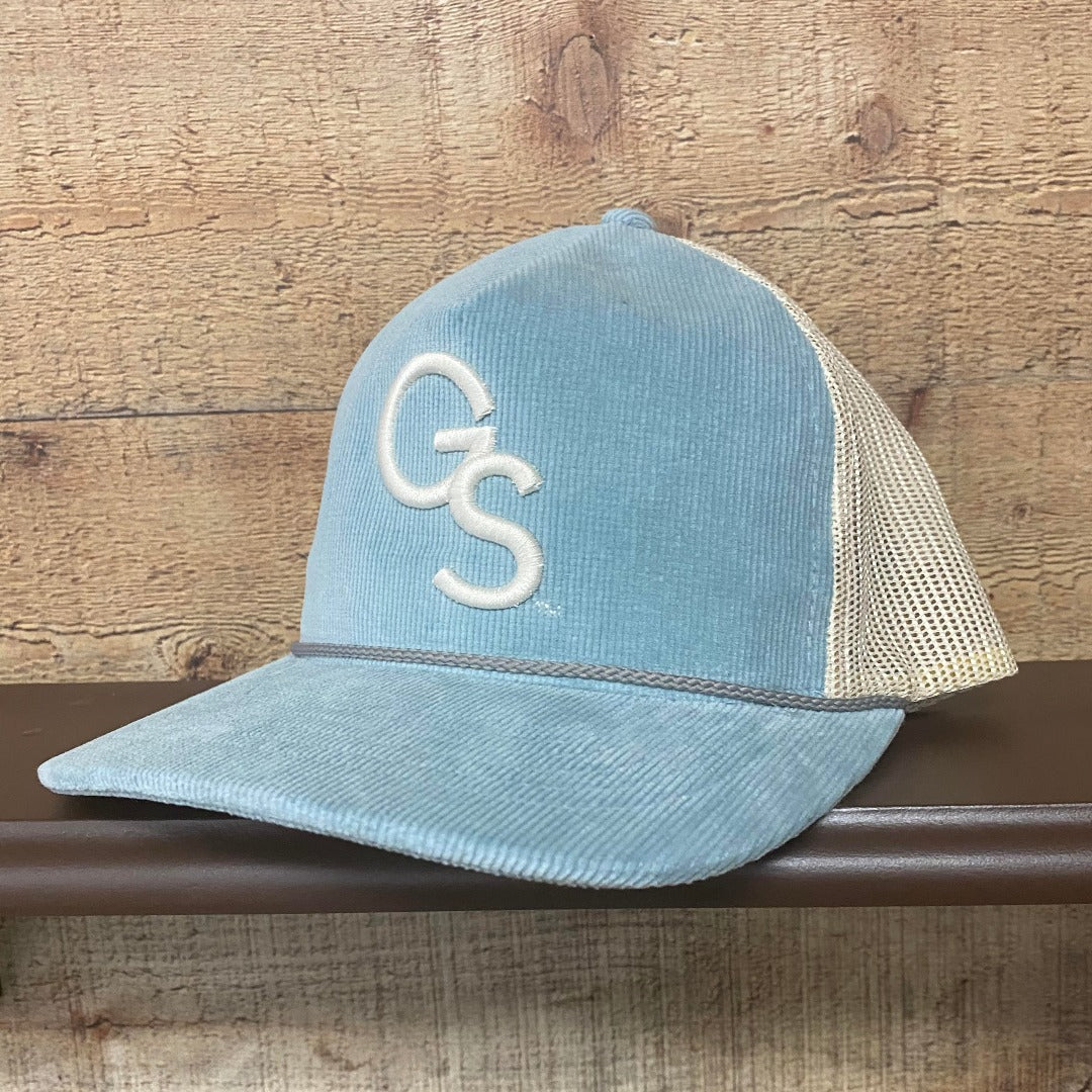 Corduroy Light Blue/Sand Richardson Trucker Hat with Sand GS