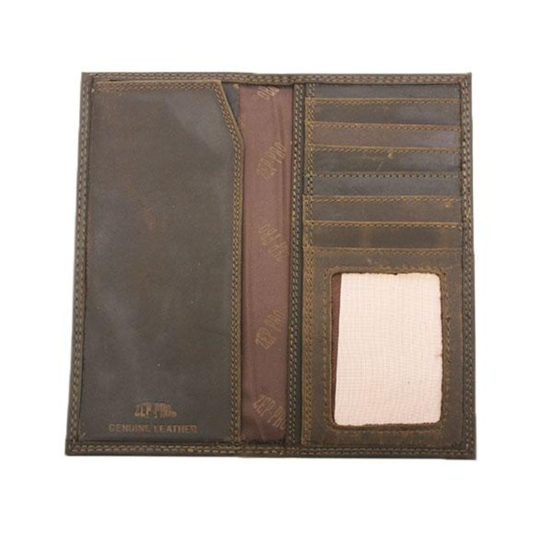 Georgia Southern Brown Crazyhorse Leather Roper Concho Wallet