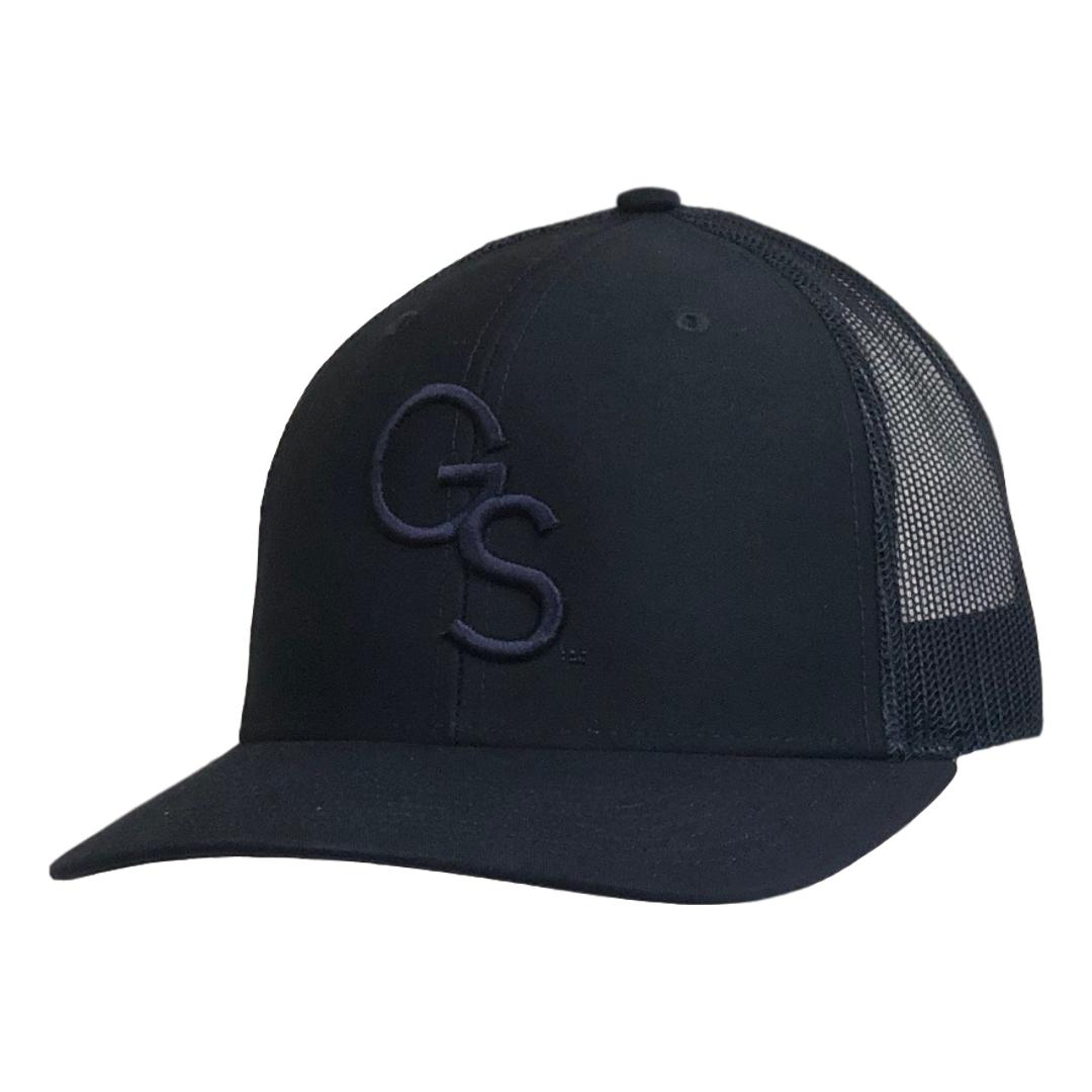 GS Trucker Hat Navy on Navy